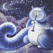 Набор для вышивки бисером Лунный кот