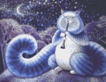 Набор для вышивки бисером Лунный кот ручной работы на заказ