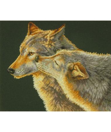 Набор для вышивки Dimensions 35283 «Поцелуй Волков» ручной работы на заказ