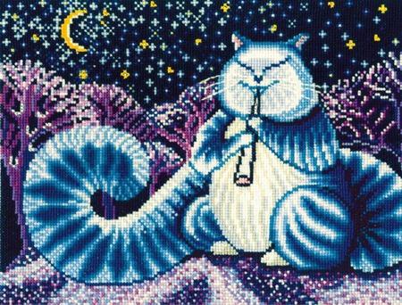Набор для вышивки Сделай своими руками Л-07 «Лунный кот» ручной работы на заказ