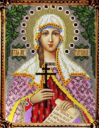 Икона бисером Святая Мученица Татьяна ручной работы на заказ