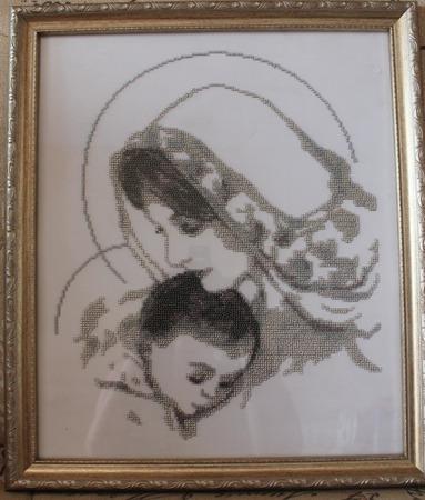 Дева Мария с Младенцем ручной работы на заказ