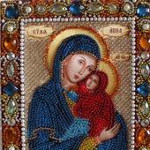 Икона бисером Святая Анна