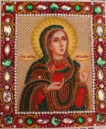 Икона бисером Мария-Магдалина ручной работы на заказ
