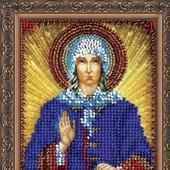 Икона бисером Святая Ксения Петербуржская