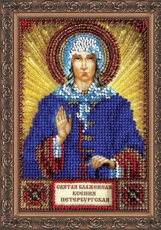 Икона бисером Святая Ксения Петербуржская ручной работы на заказ