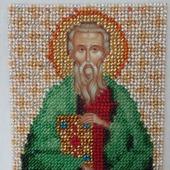 Икона бисером Святой Матфей