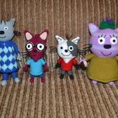 Нудик, Гоня, Шуруп и Горчица из мультика Три кота!