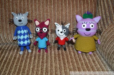 Нудик, Гоня, Шуруп и Горчица из мультика Три кота! ручной работы на заказ