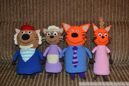 Семья героев мультика Три кота! ручной работы на заказ