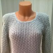 Пуловер женский с жемчужным узором