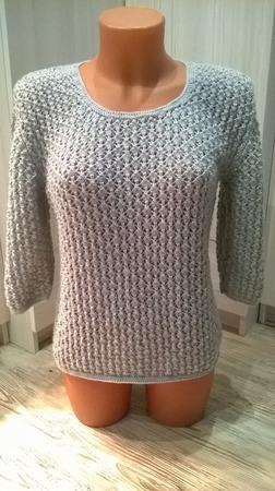 Пуловер женский с жемчужным узором ручной работы на заказ