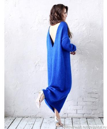 Длинное вязаное платье ручной работы в Москве ручной работы на заказ