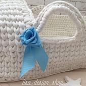 Люлька-корзинка для малыша из трикотажной пряжи TUTY