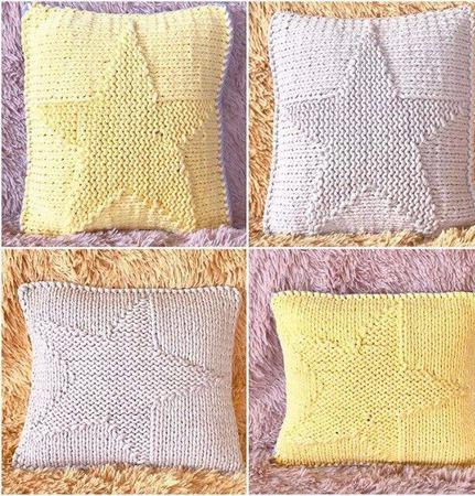 Декоративные подушки для дивана из трикотажной пряжи TUTY ручной работы на заказ