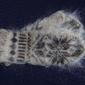 Варежки,рукавицы вязанные шерсть с пухом №7