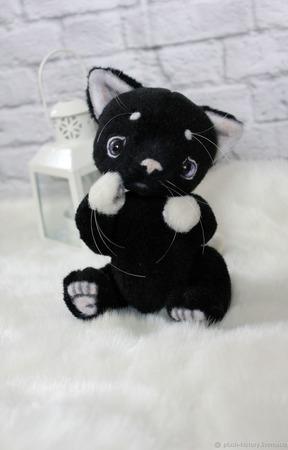 Котенок тедди черный ручной работы на заказ