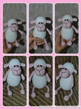 Маленькая овечка из хлопка и дольче! ручной работы на заказ