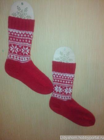 """Носки шерстяные """"Новогодние"""" ручной работы на заказ"""