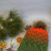 Шапка градиентом Краски Осени