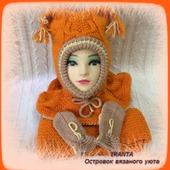 """МК по вязанию """"Зимний комплект для малыша  """"Little orange owl"""""""