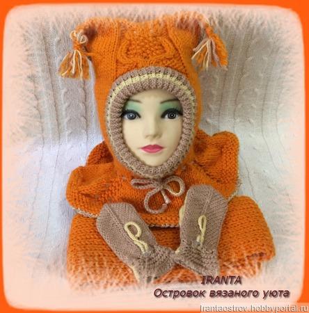 """МК по вязанию """"Зимний комплект для малыша  """"Little orange owl"""" ручной работы на заказ"""
