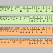 Калибровочные линейки для определения  плотности вязания