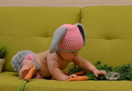 """Для фотосессий малышей """"Зайка с пушистым хвостом"""" ручной работы на заказ"""
