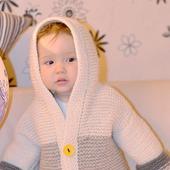 Куртка для девочки вязаная