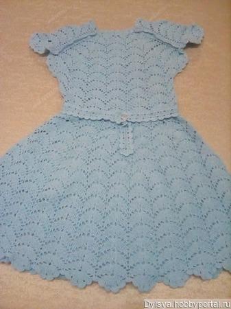 Вязаное крючком детское платье ручной работы на заказ