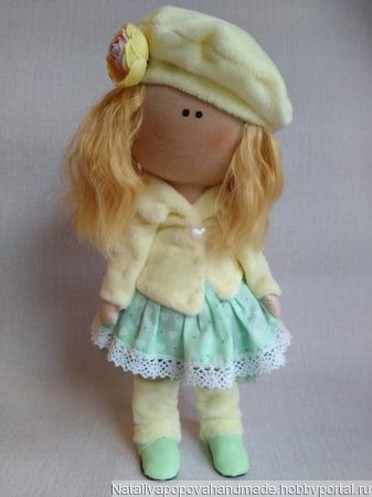 Интерьерная кукла Нежная Девочка ручной работы на заказ