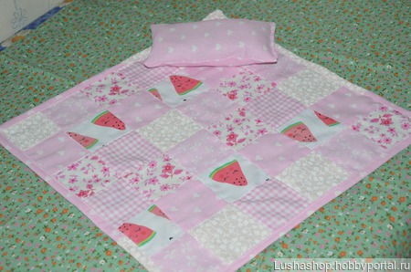 Кукольное одеяло ручной работы на заказ