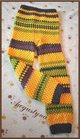 Теплые вязаные штанишки ручной работы на заказ