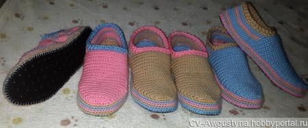 Теплые тапочки для дома ручной работы на заказ