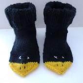 Вязаные носочки Галчата