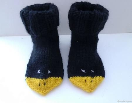 Вязаные носочки Галчата ручной работы на заказ