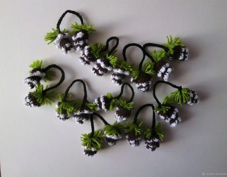 Шишки декоративные ручной работы на заказ
