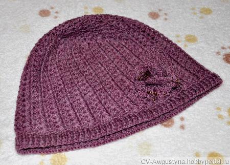 Осенние шапка и бактус ручной работы на заказ