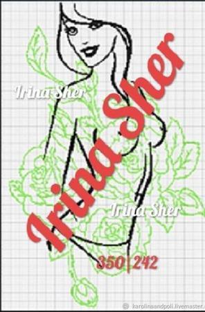 """Схема для вышивки """"Девушка Весна"""" ручной работы на заказ"""