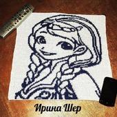 """Картина """"Принцесса Анна"""" крючком."""