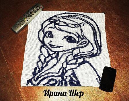 """Картина """"Принцесса Анна"""" крючком. ручной работы на заказ"""