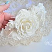 """Свадебный венок с цветами """"Невеста"""""""