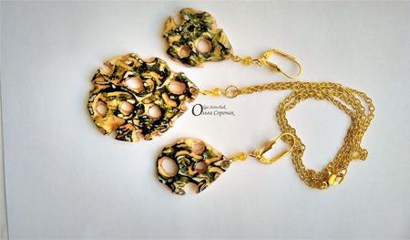 Комплект Золото Египта из полимерной глины. ручной работы на заказ