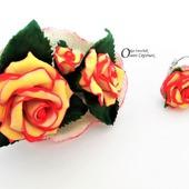 Комплект Розы в подарок из полимерной глины.
