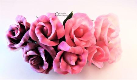 Заколка Прозрачные розы из полимерной глины. ручной работы на заказ