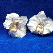 Зажим Орхидея из полимерной глины.
