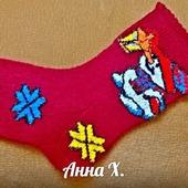 Декоративный носок Санты