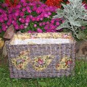 Плетеный короб для хранения