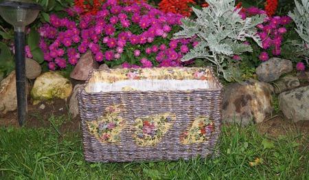 Плетеный короб для хранения ручной работы на заказ