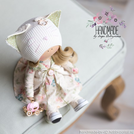 Куколка Кошечка ручной работы на заказ